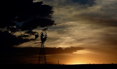 After The Storm (Chamblin1) Tags: sunset windmill pasture