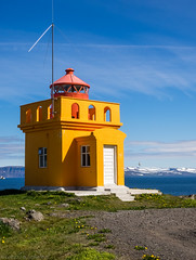 Little Orange Lighthouse (katrin glaesmann) Tags: lighthouse iceland 1937 vestfirir westfjords bolungarvk shlaviti nearsafjrur unterwegsmiticelandtours photographyholidaywithicelandtours