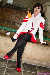 Pokemon GO Candela cosplay (The Doppelganger) Tags: candela cosplay cosplayer pokemon pokemongo nintendo teamvalor highheels stockings otakon otakon2016