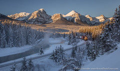 Morant's Curve (David Swindler (ActionPhotoTours.com)) Tags: canadianrockies winter river banff traintrack cold canada morantscurve train ice snow