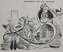 Philosophy for the Holidays! -  Punch 1873 (AndyBrii) Tags: punch 1973 wit satire woodcuts engravings