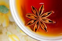 rooibos chai tea with star anise (sure2talk) Tags: rooiboschaiteawithstaranise rooibos redbush tea staranise star macromondays stars macro closeup flash speedlight sb900 offcamera diffused softbox water