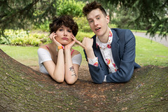 Peach and Ben (Kit Carruthers) Tags: 2016 edinburgh july peachy royalbotanicgardens sonya7ii sonyfe1855za couple model modelling portrait summer