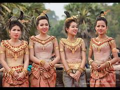 Apsara dancers at Angkor Wat in Siem Reap, Cambodia (jitenshaman) Tags: travel girl female asian temple costume asia cambodia artist khmer angkorwat dancer newyear teen temples destination tradition siemreap angkor performer apsara angkorian khmernewyear worldlocations