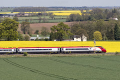 Virgin Trains Class 390 Pendolino passes Grendon on the WCML 05/05/2015 (Paul-Green) Tags: uk west train canon landscape photography coast photo mark main transport may picture rail trains pic class line virgin ii 7d mk2 passenger railways vt 390 grendon tamworth 2015 pendolino wcml