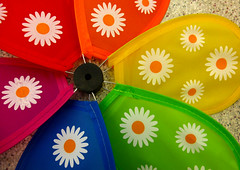 Pinwheel (arbyreed) Tags: blue red orange green closeup colorful close vivid pinwheel cloth paintedflowers arbyreed