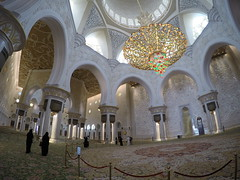 Inside, Sheik Zayed Mosque!