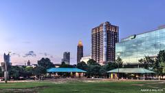 Atlanta, GA: Midtown skyline viewed from Centennial Olympic Park (nabobswims) Tags: atlanta skyline georgia us unitedstates bluehour hdr highdynamicrange centennialolympicpark blauestunde nabob nabobswims