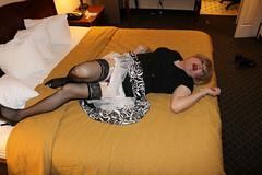 new113031-IMG_8142t (Misscherieamor) Tags: tv feminine cd motel tgirl transgender mature sissy tranny transvestite crossdress ts gurl tg travestis travesti travestie m2f onbed xdresser satindress tgurl slipshowing pantiesshowing