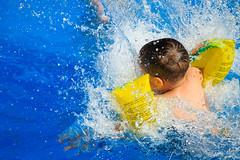 Spetter Pret (Michael Angelo 77) Tags: blue summer vacation fun toddler swimmingpool splash splashingwater