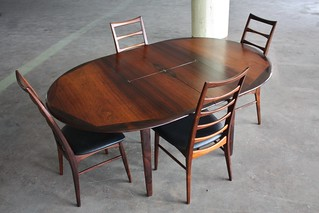 Outrageous Svend Aage Madsen Expandable Rosewood Dining Table for K. Knudsen & Son (Denmark, 1960s)