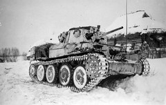 Panzer 38(t) in winter camo