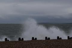 Hayling Winter (Olivia Darby) Tags: sea haylingisland wave single isleofwight solent groyne defence breaking
