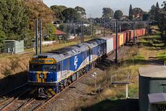"2016-05-20 Sydney Rail Services GL102-GL110 Belfield 4192 (Dean ""O305"" Jones) Tags: au sydney rail australia goods line newsouthwales metropolitan srs services belmore 4192 cfcla gl110 gl102"