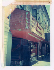 Chicago, IL (moominsean) Tags: chicago polaroid illinois broadway pizza uptown instant 190 iduv expired042004