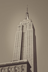 The Empire State Building in all its glory (Mathilde Guerin) Tags: new york city nyc urban usa ny building sepia america us nikon state outdoor united esb empire states nikkor 18105 2015 18105mm d5100