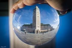 La grande Moschea di Casablanca (Algol69) Tags: reflection ball crystal mosque morocco sphere marocco casablanca riflesso moschea sfera