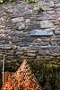 Caution Unstable Wall (the_amanda) Tags: devon holiday uk dittisham caution unstable wall sign stones orange netting