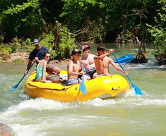 Rafters on Buffalo River - Downstream End of Steel Creek Campground, Northwest Arkansas (danjdavis) Tags: rafting raft arkansas rafters buffalonationalriver buffaloriver steelcreekcampground