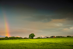 # (Eric Goncalves) Tags: uk blue light england sky sun cold green nature beautiful clouds landscape spring rainbow warm view horizon gloucestershire nikond810 ericgoncalves nikon24120f14vr