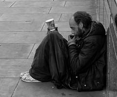 Hard Times II (bensonfive) Tags: monochrome 35mm canon londonbridge streetphotography 5d begging blackwhitephotography hardtimes