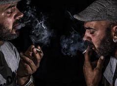 amour (ila_dam) Tags: portrait black set key smoke flash low smoking wireless