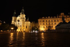 Praga (Patricio_Alvarado) Tags: prague night noche praga czechrepublic republicacheca janhuss plazavieja oldsquare sannicols iglesia