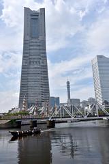 Yokohama Landmark Tower (naitokz) Tags: building japan skyscraper boat yokohama   landmarktower bldg