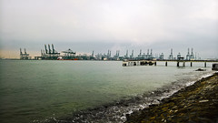Port Cranes (SmartFireCat) Tags: pasir panjang port terminal cranes gras gruas puerto sea mar labrador park parque nature reserve promenade malecn makeon psa singapore sur south singapur singapura singapour mer seaside coast costa see