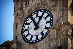 Liver Building Clock Face (Dan Diplo) Tags: liverpool waterfront clock liverbuilding tower