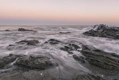 Sedas al atardecer 1_r (jamp_foto) Tags: roja roca playa mar atardecer seda lineas rock beach sunset sea silk lines mlaga nerja axarqua jampfoto espaa spain andaluca water nature