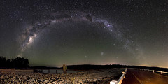 Milky Way Panorama - Serpentine Dam, Western Australia (inefekt69) Tags: road longexposure nightphotography trees sky panorama night clouds stars landscape nikon shot outdoor dam space wide australia tokina explore southern galaxy astrophotography perth multiple astronomy dslr 11mm stitched cosmos westernaustralia multi serpentine cosmology milkyway southernhemisphere magellanic ptgui serpentinedam smallmagellaniccloud multipleshots explored largemagellaniccloud galacticcore magellanicclouds 1116mm greatrift d5100