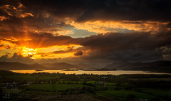 Light Show (GenerationX) Tags: sunset sky sun mountains water alexandria clouds landscape evening scotland unitedkingdom dusk scottish neil fields rays loch drama trossachs balloch lochlomond barr dumpling luss duncryne bestview smallhill