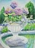 Hydrangea and Iris at Westbury Garden (softfurn Susan) Tags: iris plants garden watercolor painting sketch drawing foliage hydrangea pleinair oldwestburygardens westburyny locationsketch