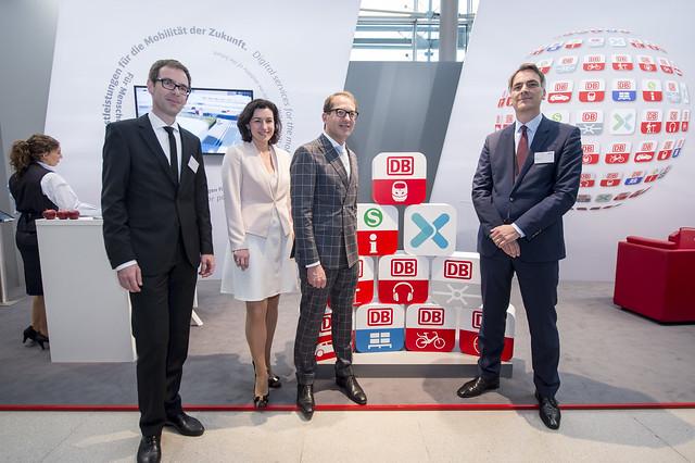 Daniel Geraskov, Dorothee Bär, Alexander Dobrindt and Johann Metzner at DB