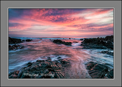 Woolacombe Sunset (stagenutuk) Tags: sunset sea sky cloud clouds coast rocks devon slowshutter woolacombe slowshutterspeed nikon1024mmlens nikond7200