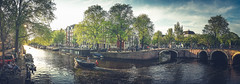 A gentle evening (Jannes Glas.) Tags: sunset holland water amsterdam boat iamsterdam sailing canals prinsengracht nel amstelveld