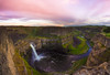 Palouse Falls (Koziak) Tags: sunset cloud clouds river landscape waterfall falls palouse
