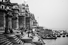 Vintage Varanasi (vjisin) Tags: travel light india heritage water 35mm river evening nikon asia outdoor varanasi tradition scape hindu hinduism ganga ganges ghats kasi travelphotography incredibleindia