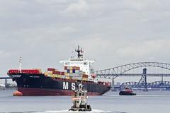 r_160519312_whcedu_a (Mitch Waxman) Tags: newyorkcity newyork newjersey ship cargo tugboat moran bayonnebridge workingharborcommittee educationtour portelizabethnewark