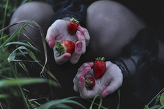 bloody sweetness (Giorgia Cinelli) Tags: wood red black fruit dark blood strawberry sweet passion bloody