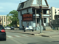2016-152 - Zombieland Rule No. 4 (Steve Schar) Tags: signs sign wisconsin police rules madison uwmadison rule seatbelts iphone highwaysigns 2016 project365 rule4 zombieland project366 iphone6s