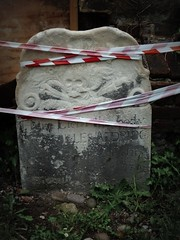 in restraints (HoosierSands) Tags: london grave skull surrey churchyard petersham crossbones