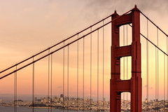 Golden San Francisco sunset (MacCoaster) Tags: sanfrancisco california city bridge sunset us unitedstates goldengatebridge goldengate hdr millvalley