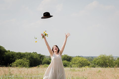 IMG_9134 (simonenicolephotography) Tags: road flowers summer sky love nature girl smile field hat sunshine station lady clouds canon pose photography rebel 50mm nicole dallas dance texas simone dress fort walk 100mm gas adventure vogue sunflowers sunflower laugh worth dfw brunette ponder t3i