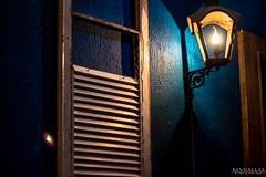 Window to somewhere (Kindallas) Tags: blue windows light brazil house window wall bar night canon 50mm oscar low indoor spot t5 paulo são freire aurea