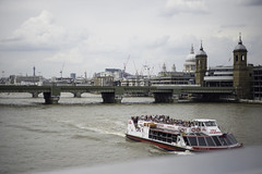 big city and the river.. (@petra) Tags: uk travel bridge england people urban london thames buildings river boat cityscape cloudy petra stpaulscathedral nikond600 takenfromlondonbridge