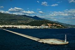 Port at Volos / Luka u Volosu (mardukkk) Tags: sea sky sun colors clouds port outdoors greek nikon cost greece coastal nikond3200 grcka volos grčka nikoneurope