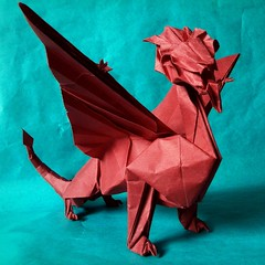 Origami Zing dragon by John Szinger (origamiPete) Tags: monster john paper origami dragon medieval fantasy beast szinger