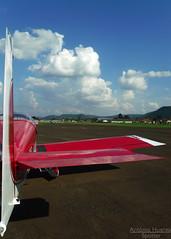 The RV (Antnio A. Huergo de Carvalho) Tags: blue red sky airplane wings aircraft aviation tail wing cu vans asa rv avio aviao asas cauda rv9a vansrv aviaoexperimental pufeg